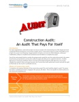 Construction Audit Pays for Itself Cover Image 101415