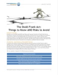 Dodd-Frank Act Know and Risks Cover Image 101415